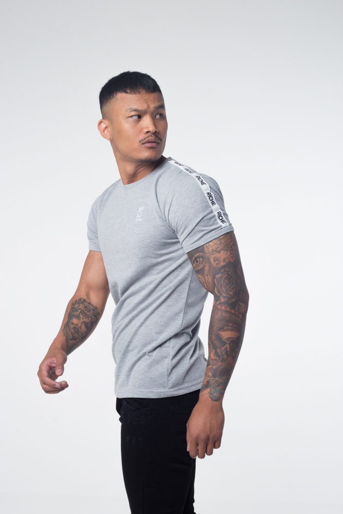TAPED T-SHIRT – GREY